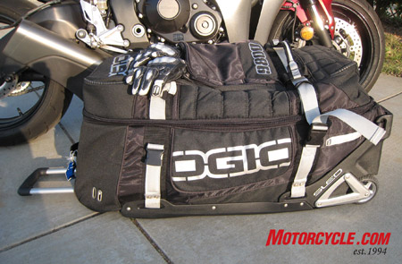 The Ogio 9800 is ready to swallow nearly anything you want to carry, whether it�s gear for motorcycling or for any other activity that requires gear, such as diving, etc.