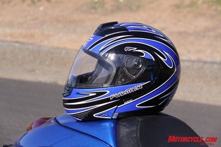 The Fulmer M1 Modus flip-front helmet in its Blue Trident version.