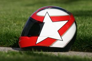Sean wasn't a big star on the GSXR, so we just put a star on his helmet.