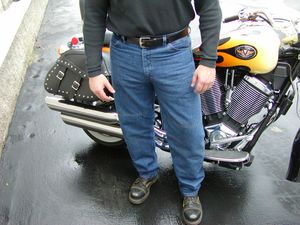 "If you want to look a bit more ""normal"" while you are tumbling down the asphalt, we recomend the Draggin' Jeans."