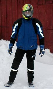 Bright reflective strips embedded in the sleeves and legs make the Jet Road gear easy to see at night.