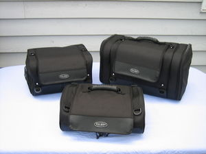The Iron Rider Main Bag, Overnighter and Roll Bag from Dowco