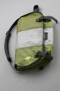 If you buy a high-quality Cordura messenger bag, make sure you like it, because it will last for eons. I've been using this Timbuk2 Messenger since 1999. Not a single stitch has come undone.