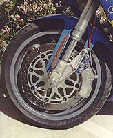One AP GP master cylinder + one Ferodo eight-piston caliper + Shawn Higbee = a bike that never, ever gets outbraked.