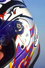 One of the only gripes with this otherwise excellent helmet is the visor removal system. It snaps, crackles and pops too much for our tastes when the cover piece is snapped on and off.