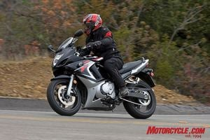Although Dunlop has targeted the sport-touring segment (VFRs, FJRs, RTs, etc.) with the new Roadsmart, it performed very well on this 2008 Suzuki GSX650F, a bike favoring more of the sporting and commuting side of things.