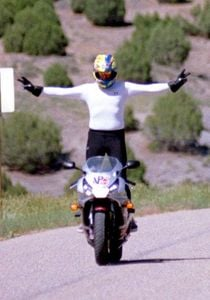 For the record, MO does not recomend riding sportbikes in nothing but your bloomers.