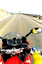 At slow speeds, the mirrors proved very effective. At higher speeds they vibrated.