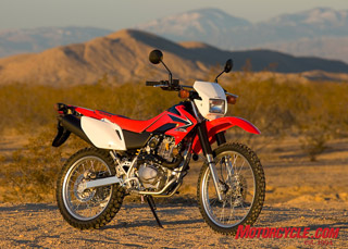 A remote high-desert location near California City served as the backdrop for our testing of Honda's new CRF230L dual-sporter.