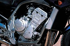 Your eyes do not deceive you; that is an R1 motor with all the Year 2000 updates.