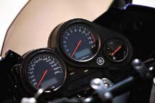 The dash features such niceties as a resettable trip meter, a clock