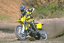 Suzuki's Year 2001 RM250 feels vastly improved from last year's model. Lighter and faster, it just might be the ticket.