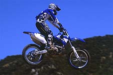 Dustin Nelson felt the '01 YZ426F actually had too much power this day at Glen Helen.