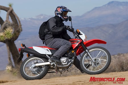 For 2008, Honda brings us a street-legal version of its CRF230R off-road playbike. Bolt one to the back of your RV for $4499.