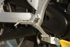 Lower footpegs will be available as an accessory for XB9R riders. Stirrups are optional.