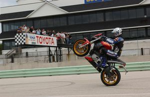 Here is some guy named Craig Jones. He does reasonably proficient wheelies and things of that crazy nature.
