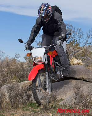 The CRF-L is a willing accomplice for light-duty off-road trail exploration.