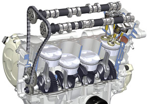 BMW employed valve technology developed by its F1 racing program.