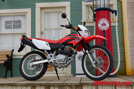 Honda's first dual-purpose machine in 17 years, the 2008 CRF230L is just as at home on the trail as it as on the road.  You may be surprised just what this bike can do.