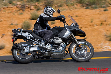 The standard GS fares quite well in mild off-road environs and is a highly capable bike on-road. It's understandable, then, that BMW has produced over 84,000 of them (more than 100K GSs including the Adventure model). The bike is a natural choice for many motorcyclists worldwide.
