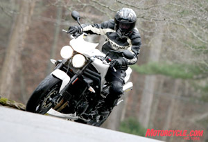 A re-tooled Speed Triple is the biggest news from Triumph for 2008.
