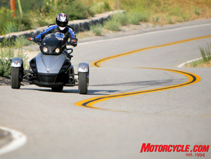 The power-assisted steering makes quick work of the twisties, as long as you don�t push the speed.