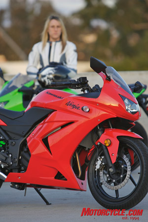 62% of Ninja 250 owners are new riders, and 33% of that group is women.