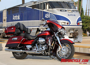 2009 CVO Ultra Classic Electra Glide in Ruby Red and Typhoon Maroon with Forge-Tone Graphics.