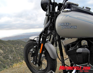 The dark horizon is befitting of the dark image Harley has chosen for its newly themed bikes called Dark Customs.