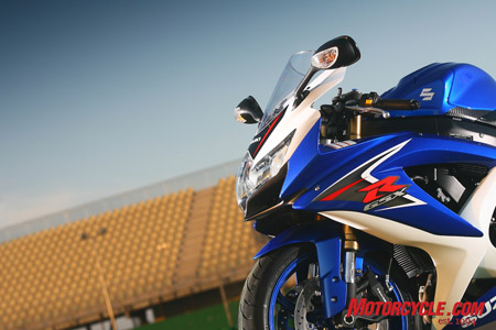 New GSX-R600, Misano and sunny skies. Well, for us, two out of three ain't bad