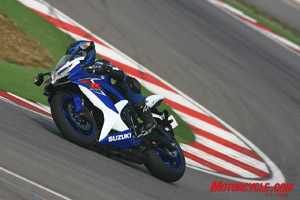Sure-footed and willing – typical GSX-R.