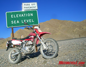 The 2009 Kawasaki KLX250S is a capable machine both above and below sea level.