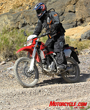 The 2009 KLX250S lets the good times roll both on and off road.