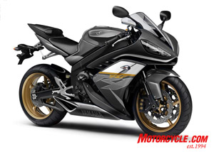 Or perhaps you prefer black…? We hope Yamaha can produce an under-engine exhaust system that looks as good as this one.