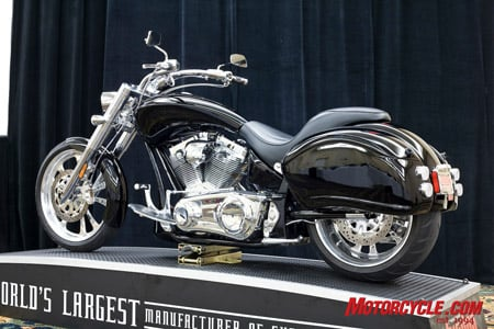 The soon-to-be-released 2009 BDM Bulldog will be the factory's first full-time touring motorcycle complete with a rubber-mount engine, fairing, hard bags, driver floorboards, and passenger seat and foot pegs.
