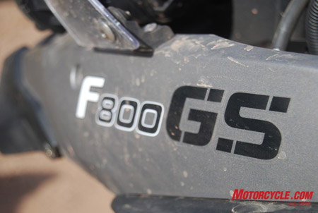 With the new F800GS the focus is on 'GS.'