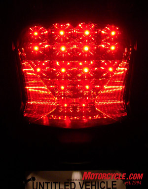 20 LEDs for the tail light.