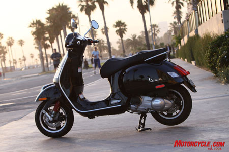 Vespa continues to be the leader in sensual scooter design, and the new GTS 300 adds the kind of strong performance we can get behind.