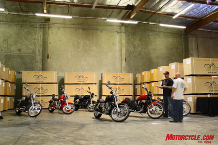 Designed in America and built inexpensively in China is the formula for success at Johnny Pag Motorcycles.