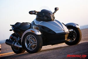 Although not technically a motorcycle, the well-engineered Can-Am Spyder has expanded open-air motoring to a new audience.