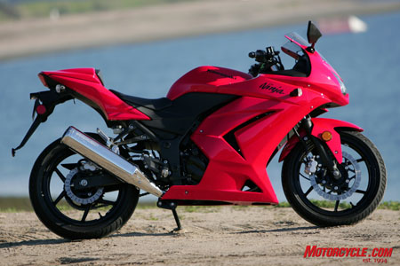 The attractive and capable Ninja 250 forgoes the embarrassment that is accompanied by most budget bikes.