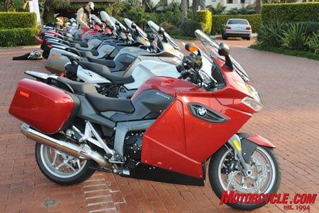 2009 BMW K1300GT in Red Apple Metallic. Other color choices are Royal Blue Metallic and Magnesium Beige Metallic.