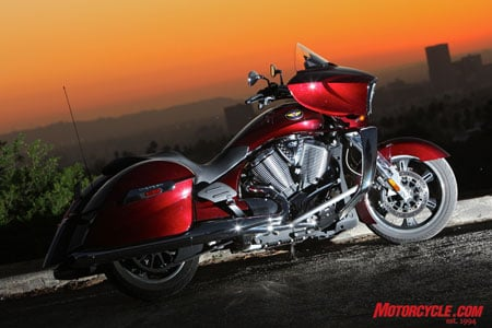 2010 Victory Cross Country is attractive in any light.