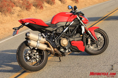 The Ducati Streetfighter is ready to take on all naked sportbike competitors.