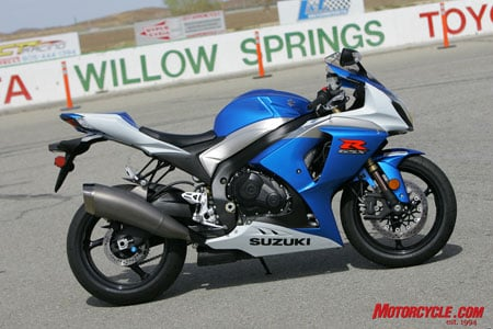 2009 Suzuki GSX-R1000. The first ground-up re-do of the liter machine since 2001 according to Suzuki staff.