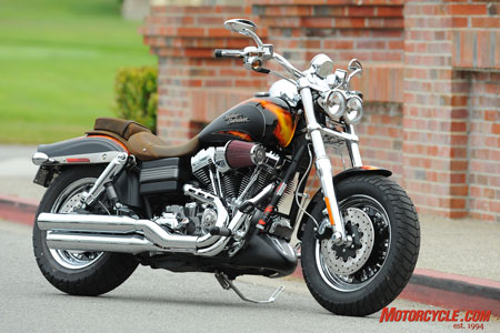 CVO Fat Bob in Cryptic Black with Hellfire Flames.