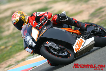 The RC8R corners like a champ.
