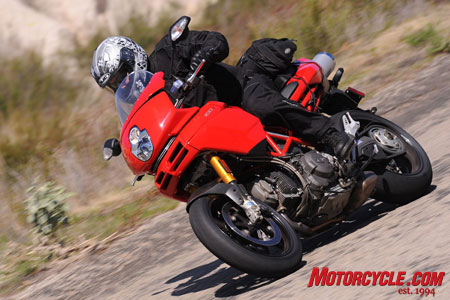 "Multistrada translates loosely to ""many roads."" We say in any language, it's all fun!"
