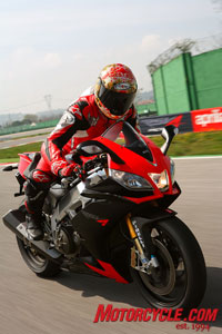 The RSV4 begs to be ridden fast.