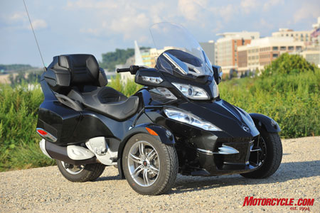 The 2010 Can-Am Spyder RT-S in Timeless Black.